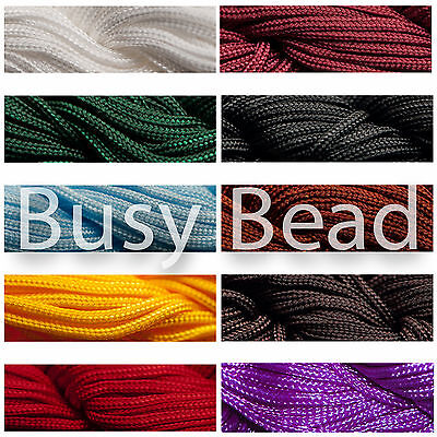 Busy Bead Shamballa Nylon Cord - Choose Colour & Size