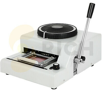 72 Character Manual Card Embosser Machine Indent Print Machinepvc Gift Vip