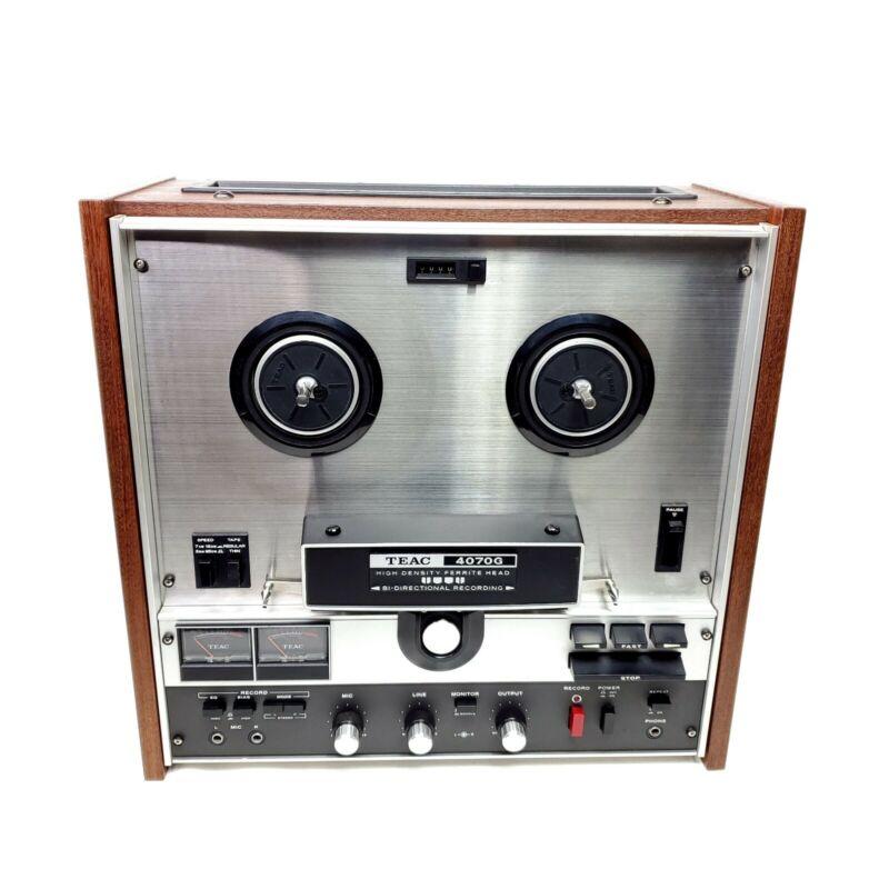 Vintage Teac Reel to Reel Stereo Tape Deck A-4070G Bi Directional Working