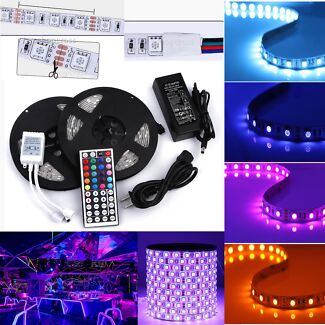 TEN METERS RED GREEB AND BLUE LED STRIP LIGHT REMOTE AND ADOPTER Parramatta Parramatta Area Preview