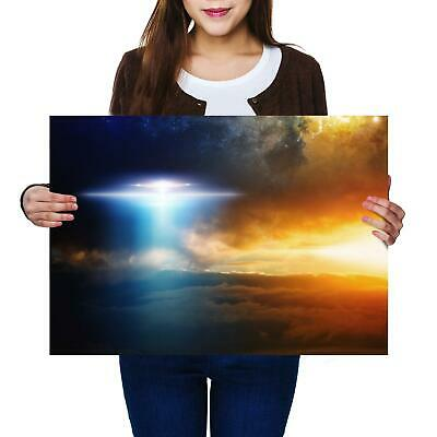 A2 | UFO Alien Flying Saucer Space Sky Size A2 Poster Print Photo Art Gift #8853 for sale  Selby