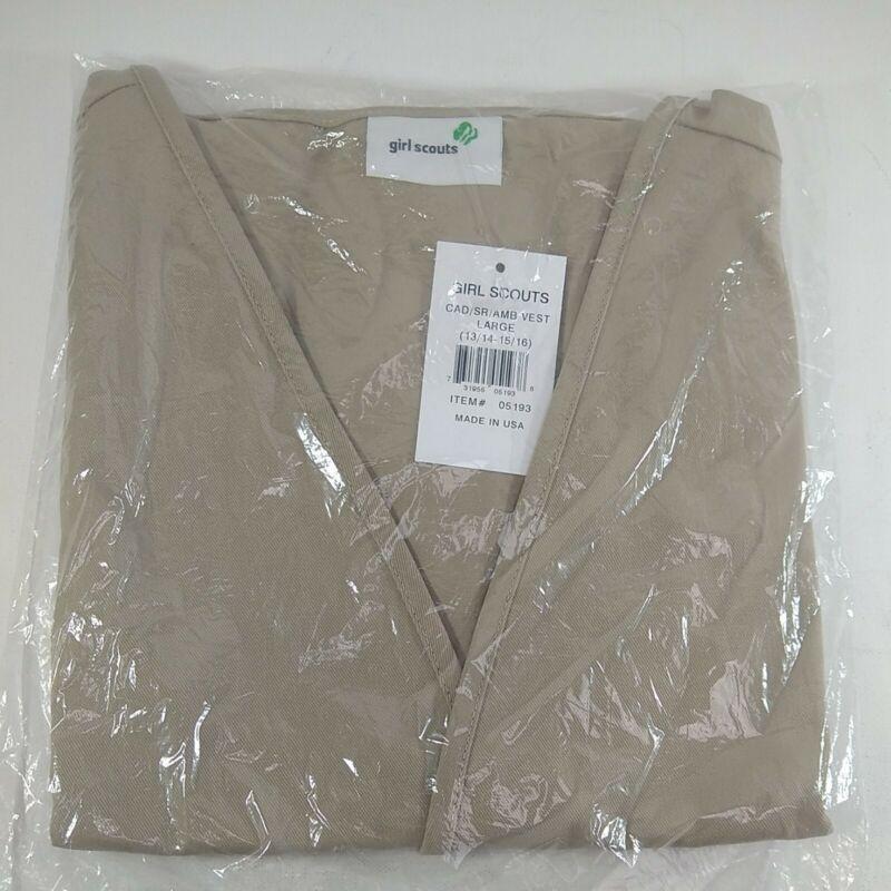 Large Girl Scout Cadette / Senior / Ambassador Scouts Vest Large 13/14 15/16 New
