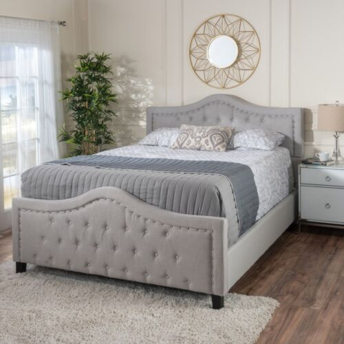 Livi Fabric Fully Upholstered Queen Bed Set Beds & Bed Frames