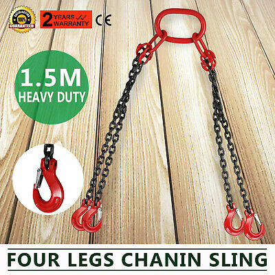Chain Sling 5 4 Legs With Sling Hooks G80 Lifting Chain Sling
