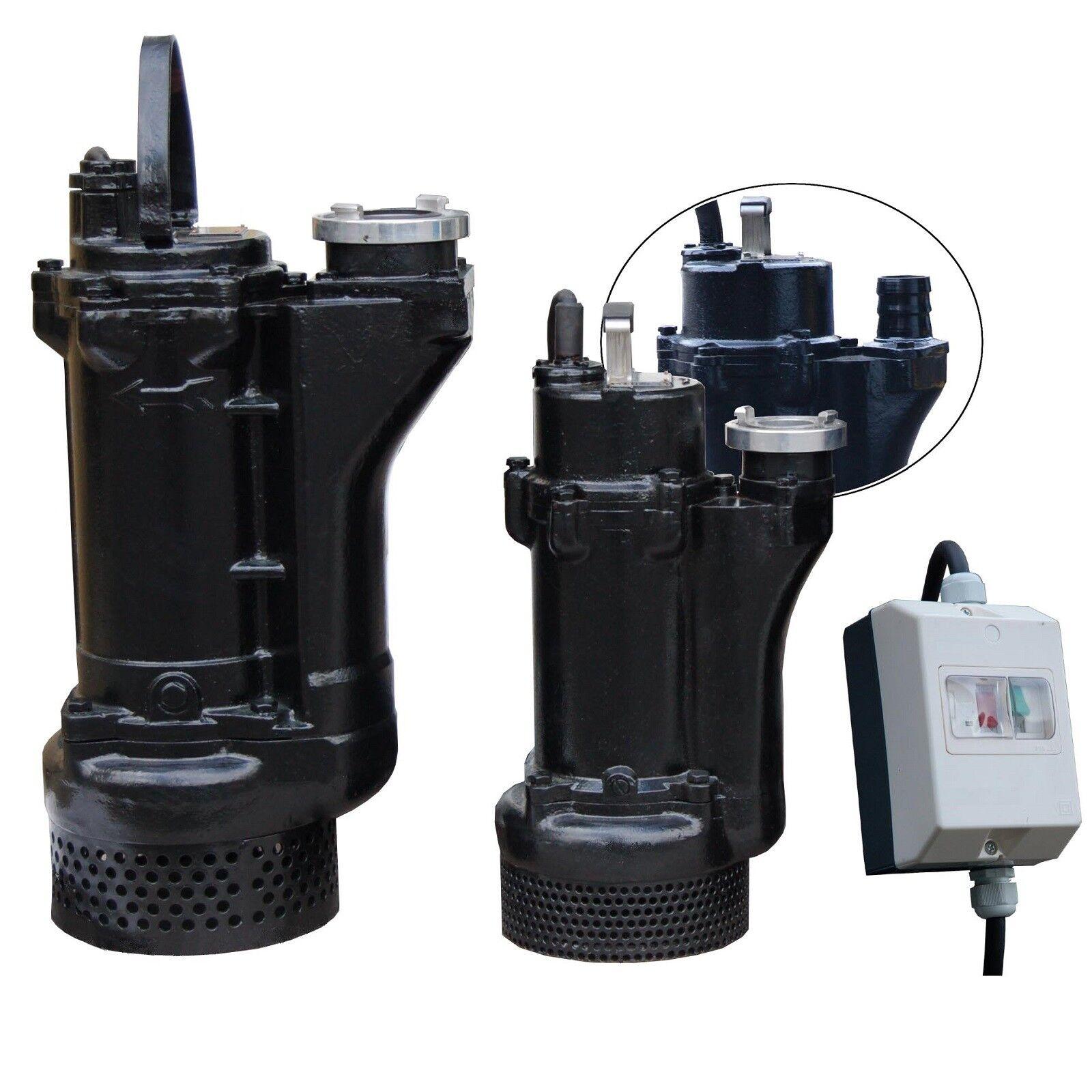 Professionelle Schlammpumpe Entwässerungspumpe 0,45 - 5,5kW , 170 bis 1500l/min
