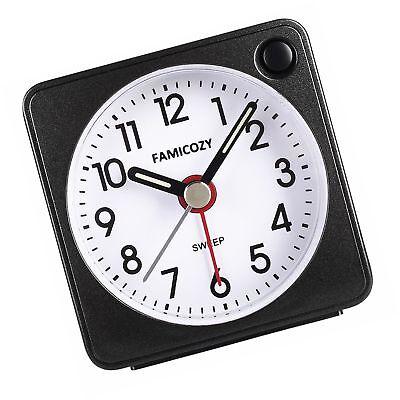FAMICOZY Mini Size Alarm Clock, Quiet Non Ticking Travel Alarm ... Free Shipping