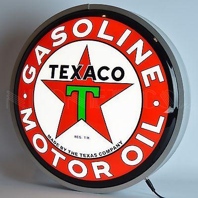 """Texaco Motor Oil Backlit Led Neon Light Sign 15""""x15"""""""
