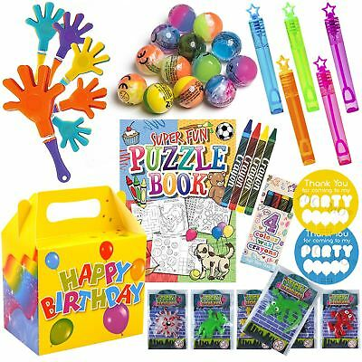 Kids Pre Filled Party Bags Boxes Birthday Party Bag Gifts Fo
