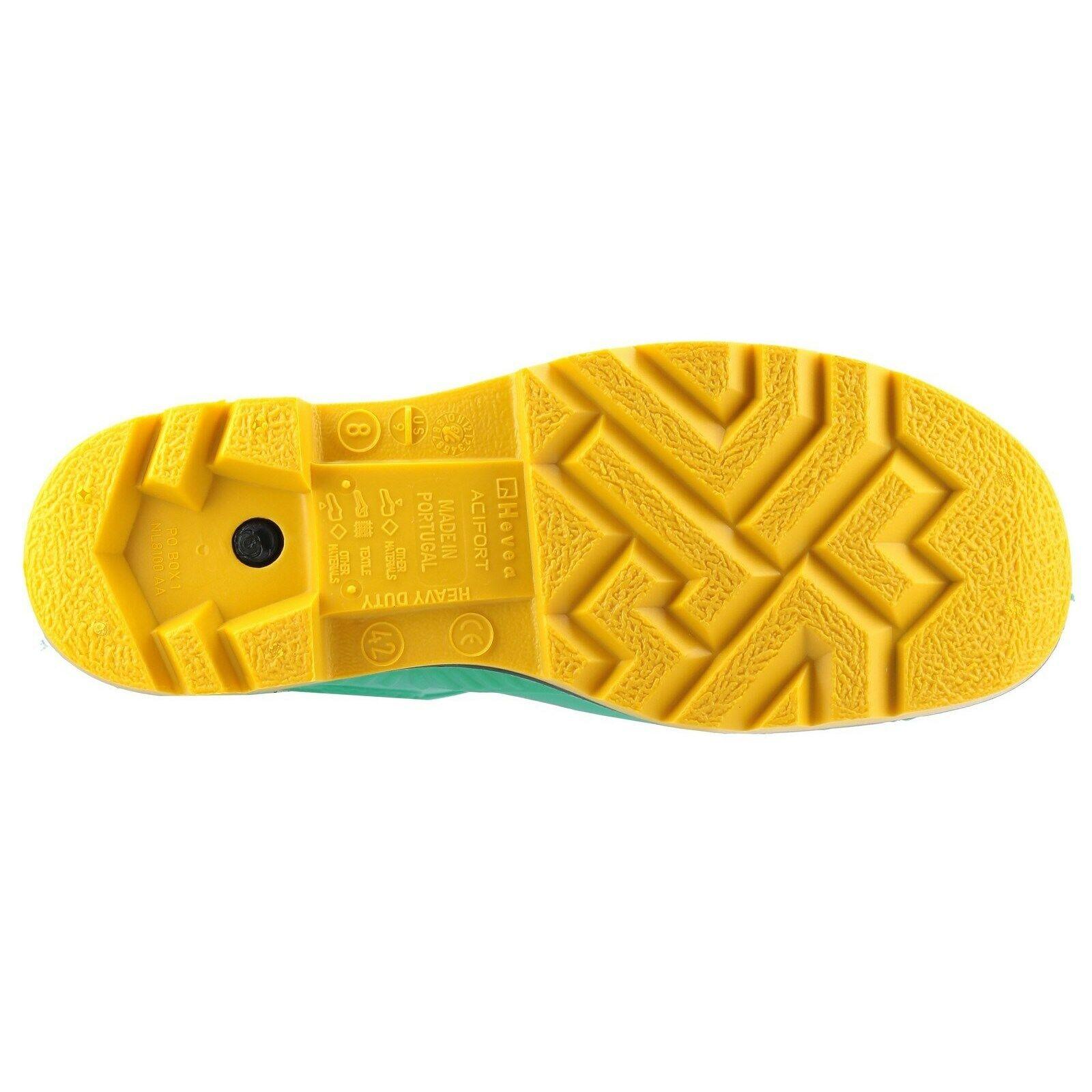 Dunlop Mens Acifort HazGuard Safety Wellington Green//Black//Yellow