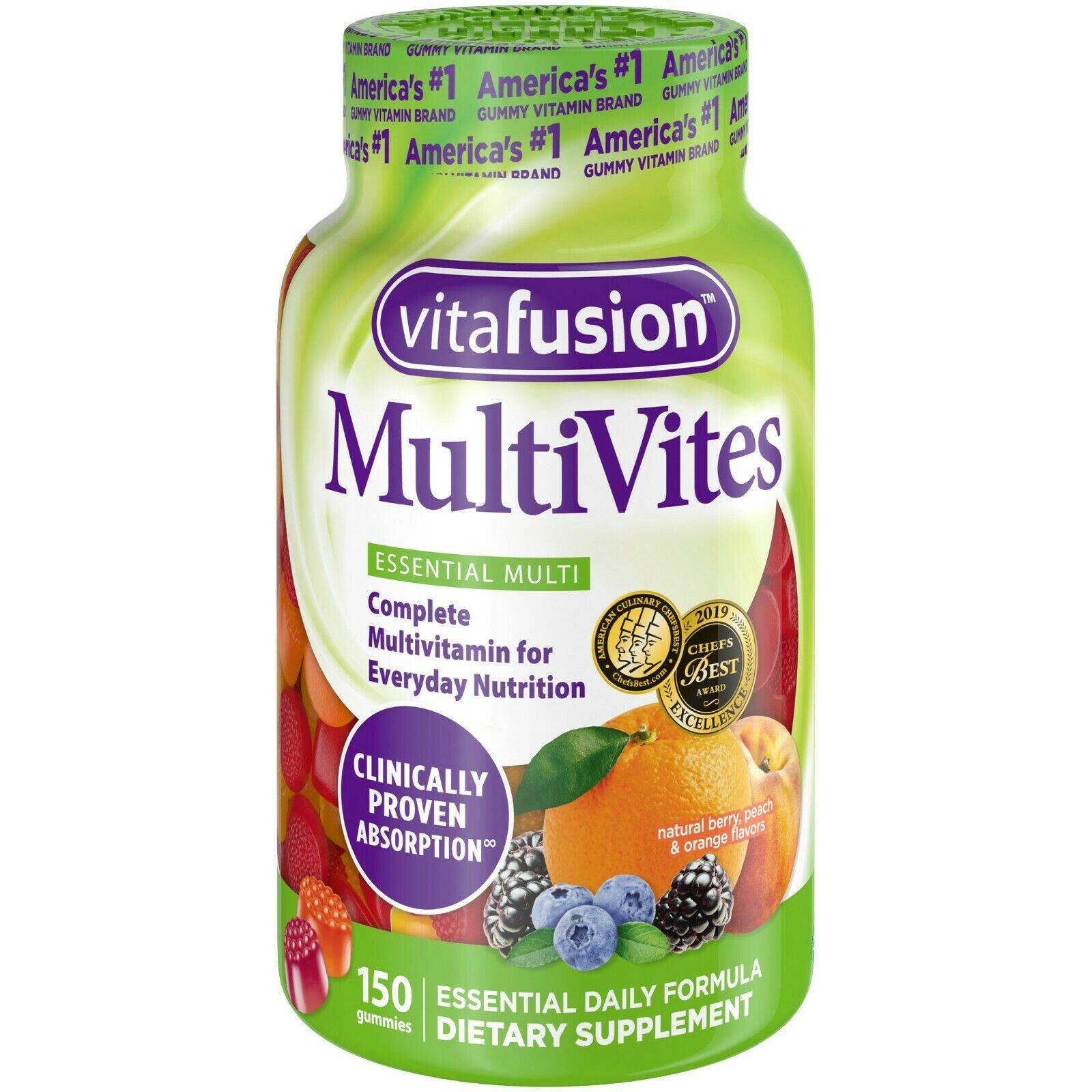 Vitafusion MultiVites Gummy Vitamins, 150 count