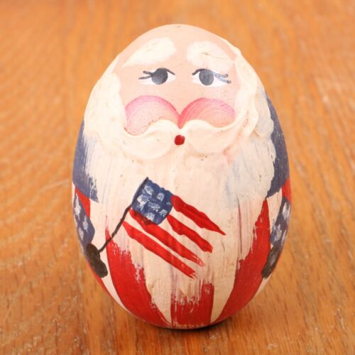Uncle Same Painted Wood Egg