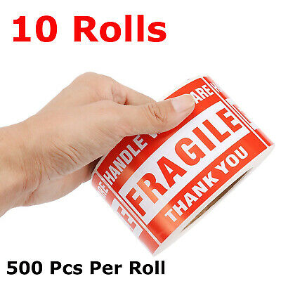 5000pcs 3x5 Fragile Stickers Handle With Care Warning Mailing Shipping Labels
