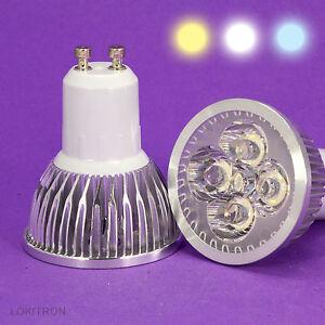 10-x-LED-GU10-12W-220V-LOTE-3-COLORES-A-ELEGIR-BOMBILLA-BULB-AMPOULE-LAMPADINA