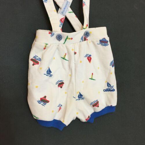 Vintage OshKosh B'Gosh Overalls Nautical Sailboat 18 MO USA Made Embroidered