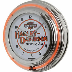Classic Harley Neon Wall Clock