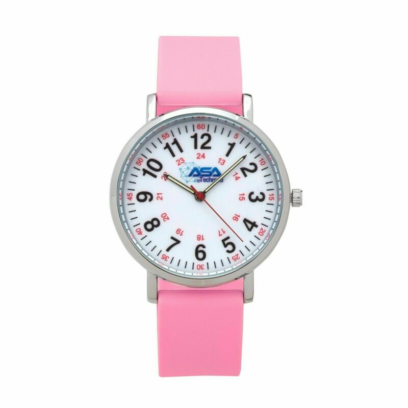 AsaTechmed Scrub Nurse Watch - Easy To Read Dial, Second Hand, Water Resistant