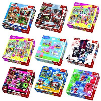 Trefl 4in1 Jigsaw Puzzles 35+48+54+70 Pc Cartoon Super Hero Characters Boys Girl 35 Piece Framed Puzzle