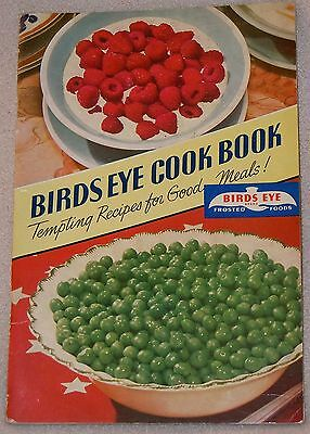 1941 Birds Eye Frozen Foods Fruit Crab Shrimp Fish Meat Recipe Cook Book Booklet