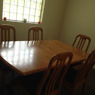 Dining Table  - 8 seater extentable table (with 6 chairs) Erskineville Inner Sydney Preview