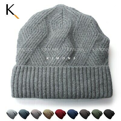 Fleece Knit Winter Ski Baggy Slouchy Cuff Beanie Cap Solid Hat Skull Man Woman Fleece Cuff Cap