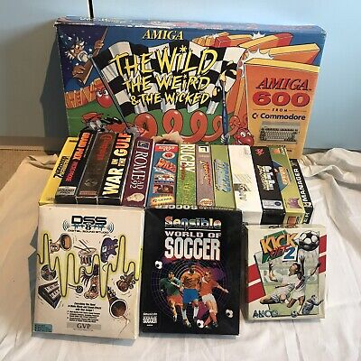 Commodore Amiga A600 - Wild Weird Wicked Pack-Boxed +14 Games +DDS Sound Studio