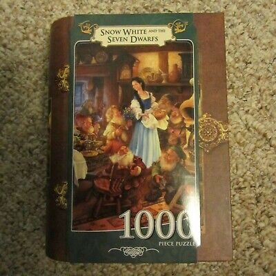 Masterpieces Snow White And The Seven Dwarfs Story Book 1000 Piece Jigsaw Puzzle