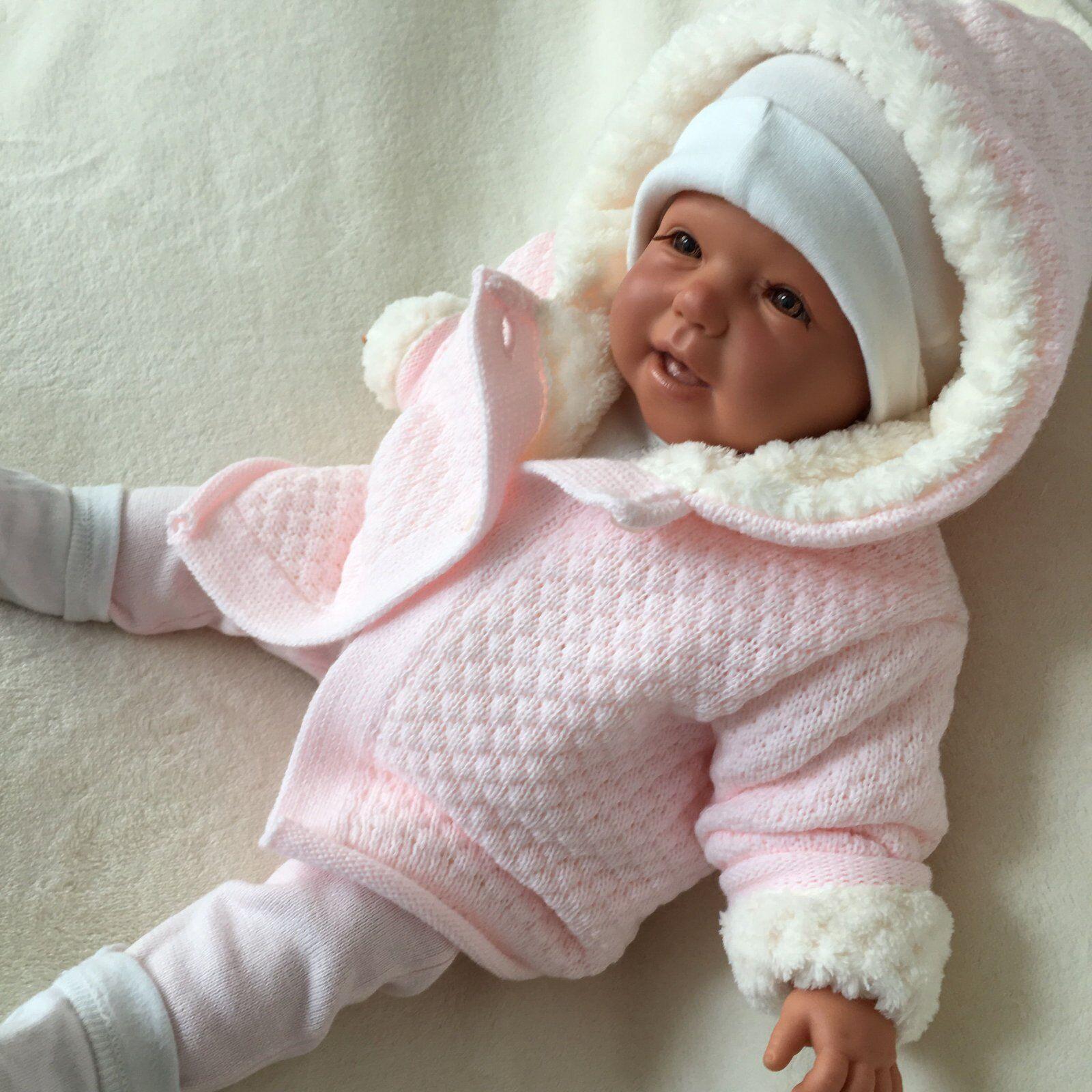 NEU Baby Mädchen Strickjacke Kapuzenjacke Cardigan Weste Gr. 62 68 74