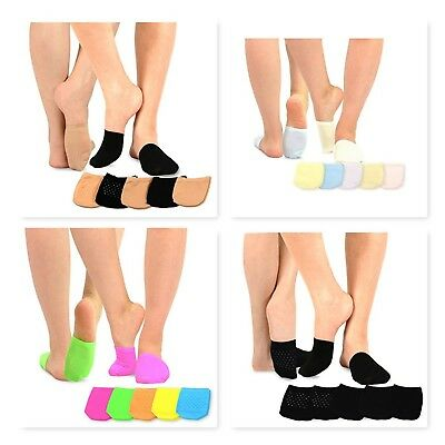 TeeHee Women's Seamless Toe Topper Liner Socks 5-Pack with Non-Skid (Seamless Liner)