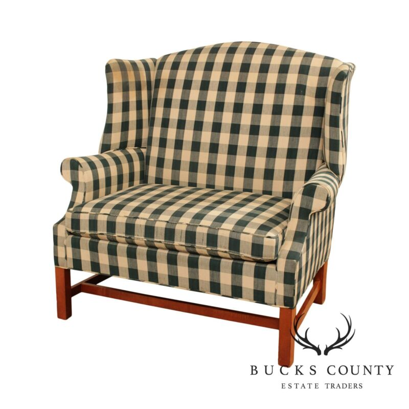 Johnston Benchworks Chippendale Style Chair and a Half Wing Chair