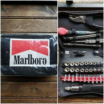 Vintage Marlboro Tool Kit - Car Care - Promo Item - Rare! Lightly used Soft Case