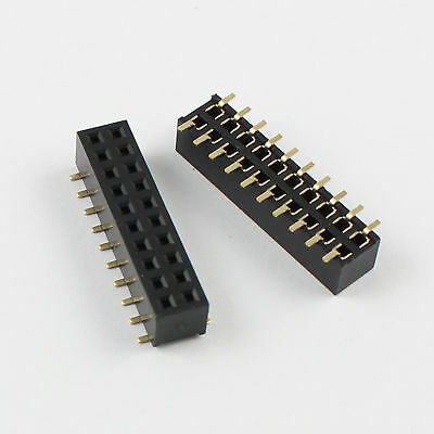 10pcs 2mm Pitch 2x10 Pin 20 Pin Female Double Row Smt Smd Pin Header Strip