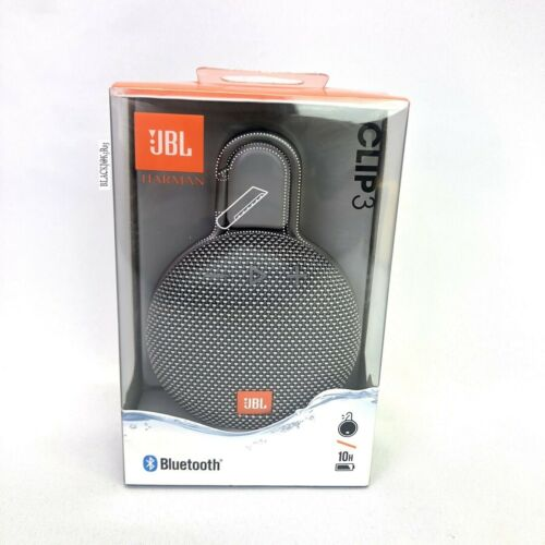 Brand New JBL CLIP 3 Portable Waterproof Bluetooth Speakers Grey 100% Authentic