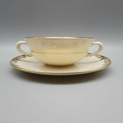 Lenox Fine China Essex - Maroon Cream Soup Set