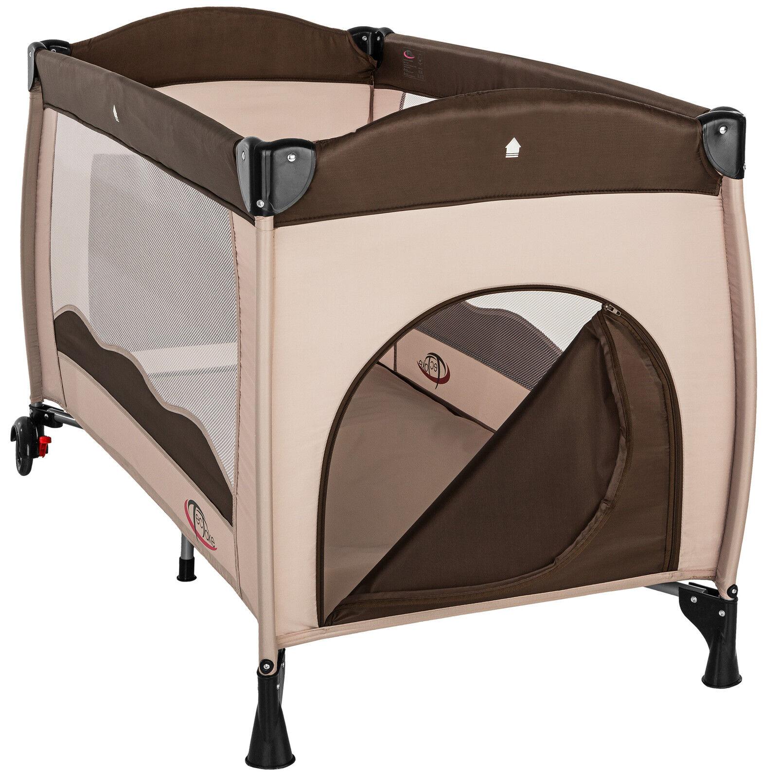 reisebett kinderreisebett kinder baby babybett kinderbett mit einlage coffee eur 43 99. Black Bedroom Furniture Sets. Home Design Ideas