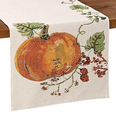 Pumpkin Berries 108 Inch Table Runner (108