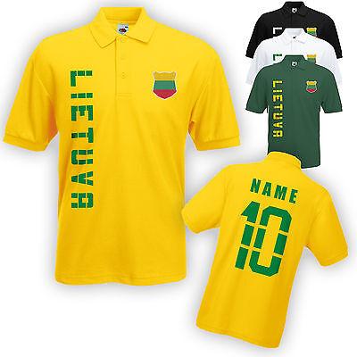 Litauen Lietuva Polo-Shirt Trikot mit Name & Nummer S M L XL XXL