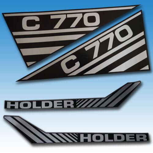 Aufkleber-Satz Holder C 770 4-teilig Traktor Schlepper  Foto 1