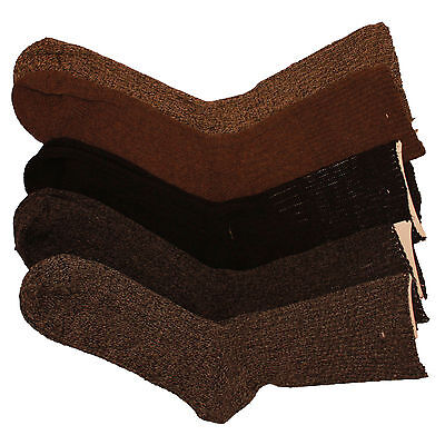 Kissen, Wollsocken (3 X Herren Winter Warm Wollmischung Socken mit Terry Kissen Wärmefalle)