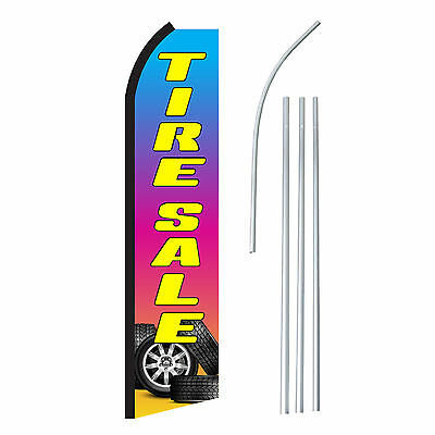 Tire Sale - Advertising Sign Swooper Feather Banner Flag Pole Only