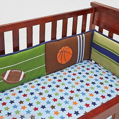 Little Bedding by Nojo High Five Sport 4-Piece Secure Me Bumper Set