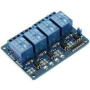 4-Kanal Relais Modul 5V/230V Optokoppler 4-Channel Relay Arduino Raspberry Pi