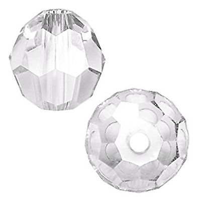 Swarovski #5000 Crystal Clear Faceted Round Beads 6mm (12 beads)