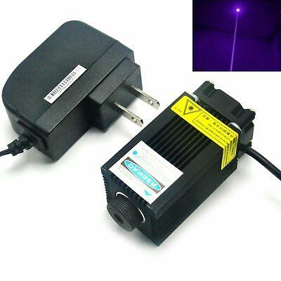 Violet-blue 405nm 200mw Dot Focusable Laser Diode Module 12v Adapter
