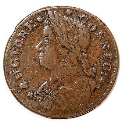 1787 M 33 5 T 2 R 5 Connecticut Colonial Copper Coin Ex  Ford   Boyd   Ryder