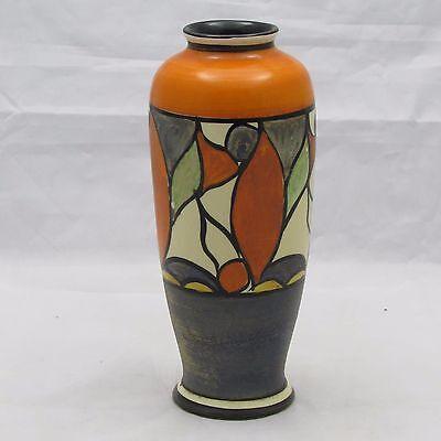 UNUSUAL CLARICE CLIFF ART DECO VASE c1930'S SHAPE 186 WINSOME PATTERN? 14.5 CM H