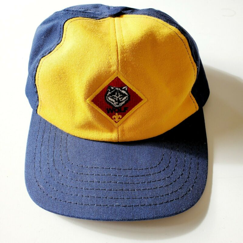 Boy Scouts Cub Scout Wolf Hat/Cap Size S/M Small Medium USA
