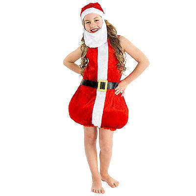 stüm Kleid Weihnachtsmann Nikolaus Santa Claus Verkleidung (Kind Santa Claus Kostüm)