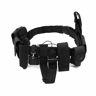 Police Security Guard Modular Enforcement Equipment Black Duty Belt Nylon Po...