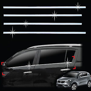 Chrome-Door-Window-Sill-Belt-Molding-Trim-Cover-for-11-Kia-Sportage