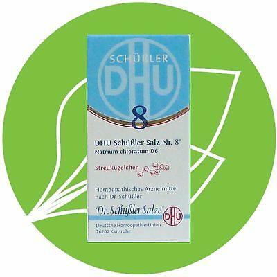 Schüßler Salz Nr.8 Natrium chloratum D6 DHU Globuli PZN 10545930
